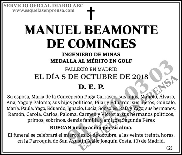Manuel Beamonte de Cominges